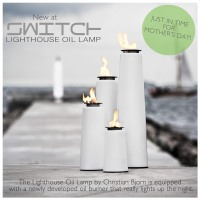 New in Our Window! (Lighthouse Oil Lamp)