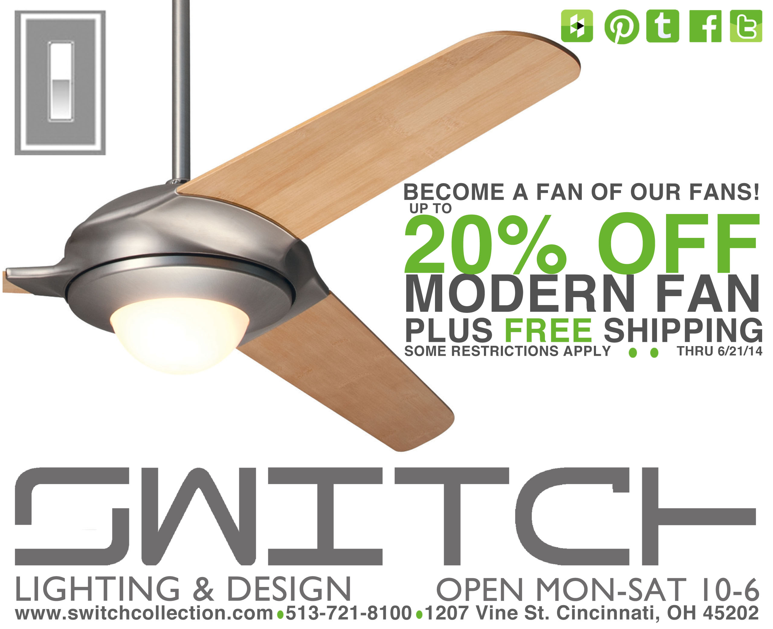 stop in and take advantage of our modern fan sale before it gets even hotter the sale will be going on now through june 21rst