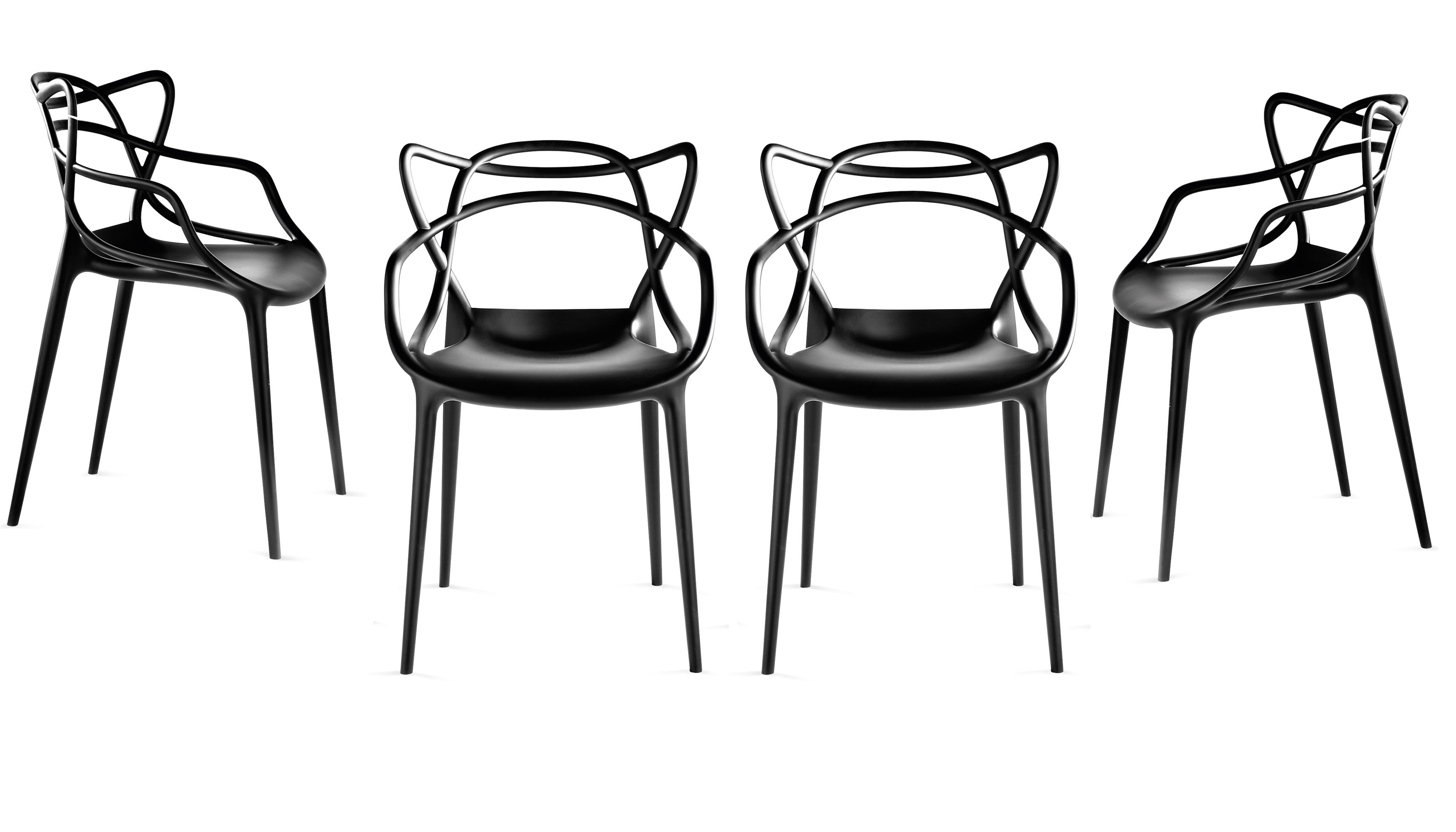 Kartell for Chaise salle a manger ecru