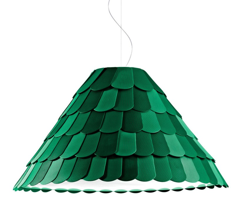 Fabbian Roofer Conical Suspension Lamp